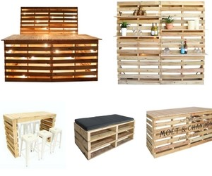 pallet furniture for sale pallet tables bars. Black Bedroom Furniture Sets. Home Design Ideas