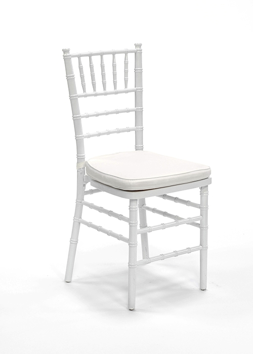 tiffany chair hire cushions white ivory or black