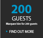 200 GUESTS MARQUEE HIRE FOR 200 GUESTS
