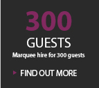 300 GUESTS MARQUEE HIRE FOR 300 GUESTS