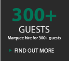 300+ GUESTS MARQUEE HIRE FOR MORE THAN 300 GUESTS