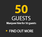 50 GUESTS MARQUEE HIRE FOR 50 GUESTS