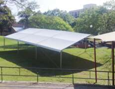 10m x 15m roof only marquee set up in park