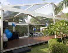 marquee with clear covers for hire