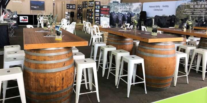 Wine Barrel Furniture For Hire Sydney Melbourne Gold