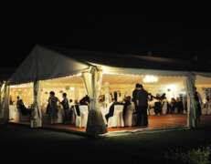 wedding marquee hire night