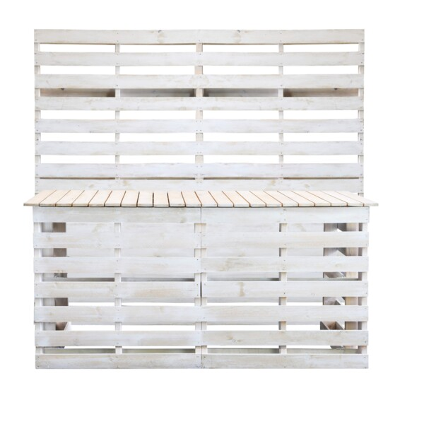 whitewash pallet service bar for hire