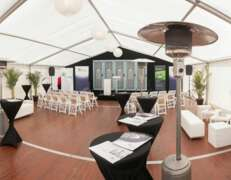 marquee for a corporate event for 100 guests
