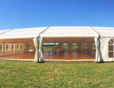 20m x 20m marquee hire