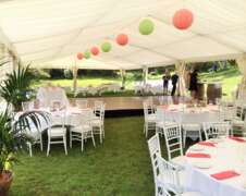 party marquee hire with dance floor