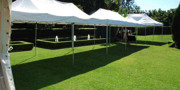 small corporate marquee for hire