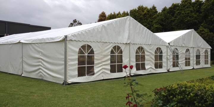 marquee hire with arched walls sydney
