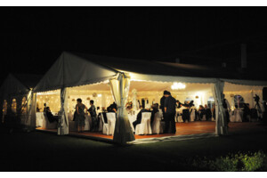 marquee for hire in Hunter Valley wedding