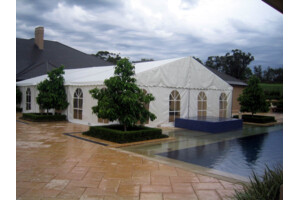 marquee with arched windows